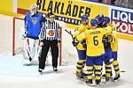 Čtvrtfinálové utkání Švédsko - Finsko