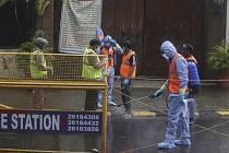 Dezinfekce proti koronaviru v Indii