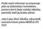 Tento příspěvek Lubomíra Volného se začal hojně šířit sociálními sítěmi