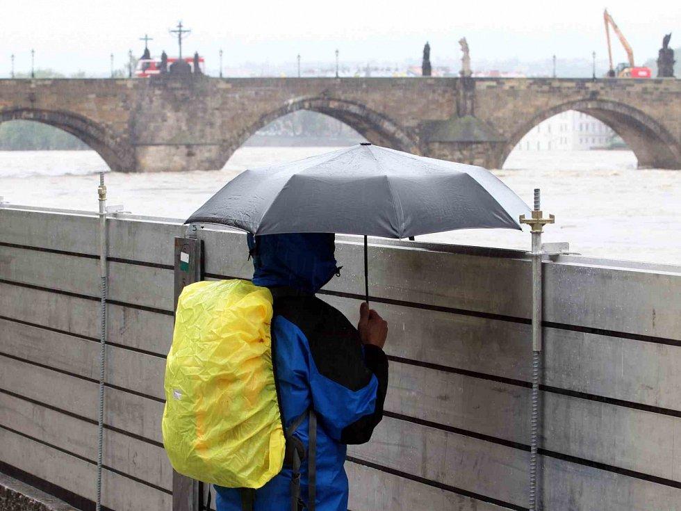 Povodně v centru Prahy