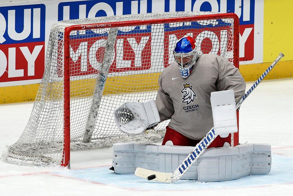 Bratislava 24.5.2019 - Mistrovství světa v Bratislavě - rozbruslení před semifinále Česko Kanada - Pavel Francouz