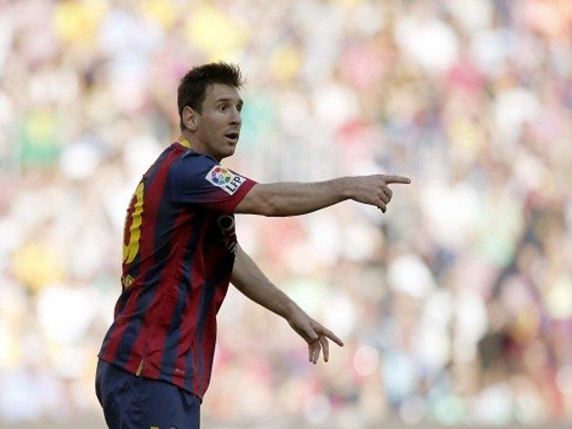 Rozčarovaný Lionel Messi z Barcelony proti Getafe.