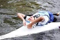 Gabriela Satková na mistrovství Evropy juniorů a závodníků do 23 let ve vodním slalomu