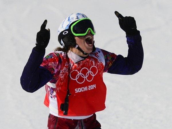 Snowboardkrosařka Eva Samková získala pro Českou republiku první zlato na olympijských hrách vSoči.