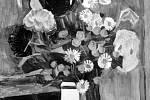 Dražba, Václav Špála, kytice růží