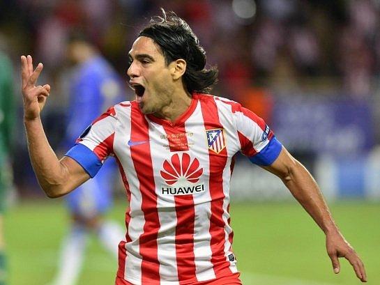 Střelec Atlética Madrid Falcao.