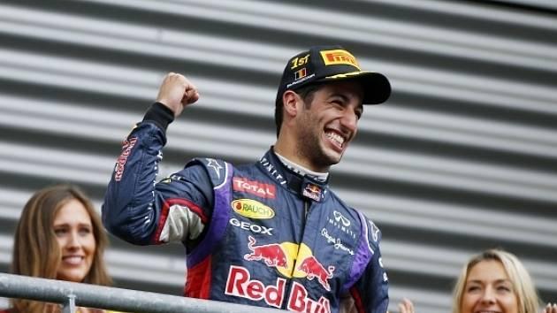Velká cena Belgie: Radost vítěze Daniela Ricciarda