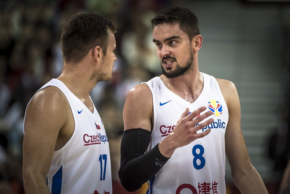 Utkání basketbalového mistrovství světa mezi Českem a USA