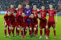 Základní jedenáctka české reprezentace proti Srbsku.
