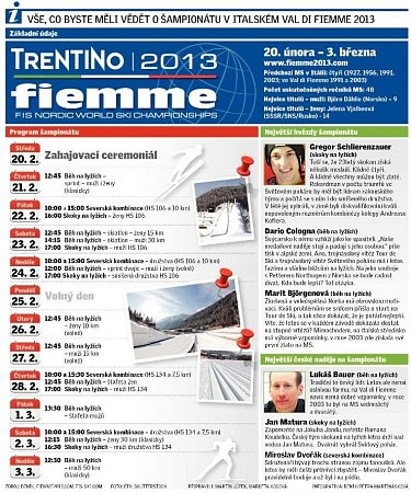 MS vkalsickém lyžování ve Val di Fiemme.