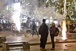 Příchod nového roku v Praze