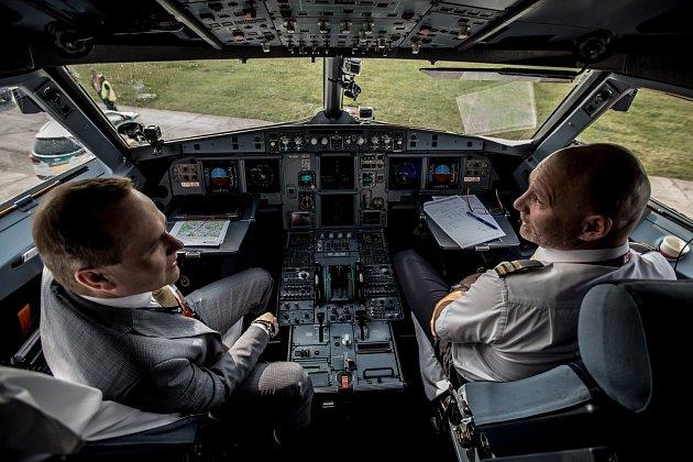 Vzpomínkový let Airbusu A319 na lince Praha - Piešťany - Brno - Praha.