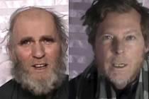 Afghánský Taliban dnes zveřejnil videozáběry uneseného Američana a Australana.