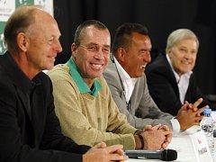 Vítězové Davis Cupu z roku 1980 (zleva) Pavel Složil, Ivan Lendl, Tomáš Šmíd a Jan Kodeš.