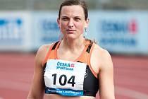 Překážkářka Lucie Škrobáková na mistrovství České republiky.