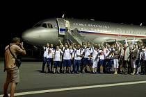 Další část české výpravy odletěla 8. srpna večer z letiště v pražských Kbelích na olympijské hry do Ria de Janeiro.