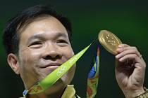 První olympijský vítěz z Vietnamu střelec Hoang Xuan Vinh.
