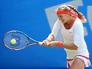 Petra Kvitová ve čtvrtfinále Wimbledonu.