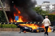 V hotelovém komplexu v keňském Nairobi se bojuje