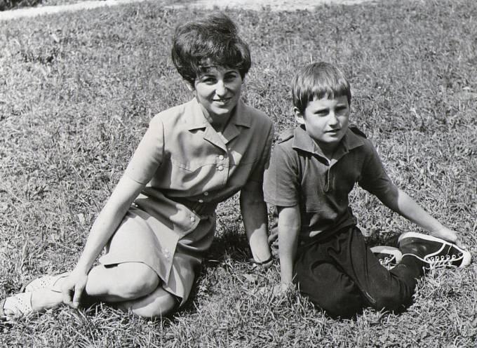 Eva Doleželová se synem Vladimírem
