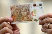 Nová desetilibrová bankovka s Jane Austenovou na zadní straně