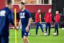 Trénink české fotbalové reprezentace