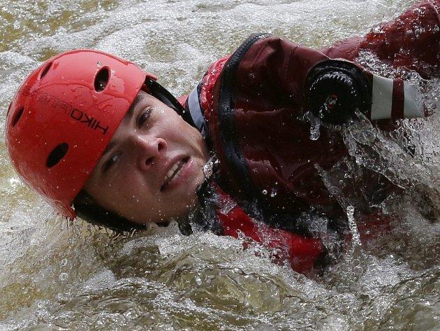 Cvičení záchranných složek v Roudnici nad Labem.
