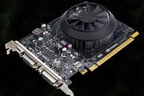 Grafická karta Nvidia GTX 750.