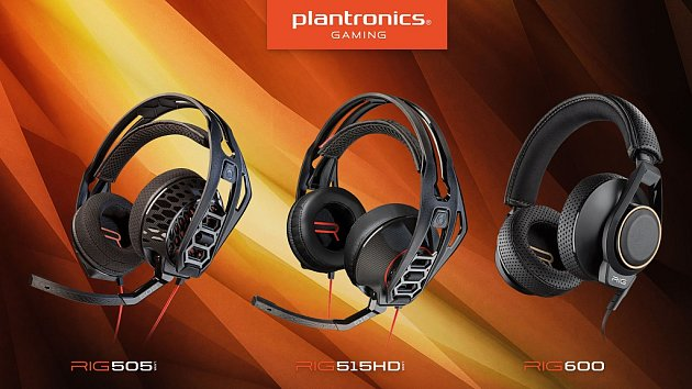 Headsety Plantronics RIG 505, 515HD a 600.