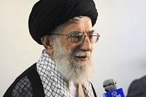 Íránský duchovní vůdce ajatolláh Alí Chameneí.