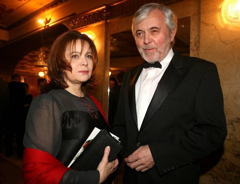 Josef Abrhám a Libušě Šafránková na vyhlašování Českého lva v roce 2007