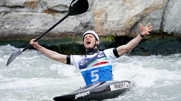 Vít Přindiš - Mistrovství Evropy ve vodním slalomu v sobotu 8. května 2021 v italské Ivrei.