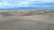 Gran Canaria. Pískové duny u Maspalomas. Vypadají jako malá poušť.
