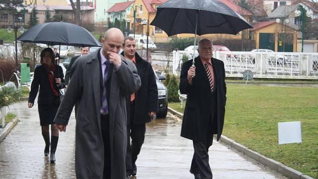 Prezident Václav Klaus na návštěvě Břeclavska.