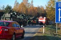 nehoda vojenských vozů pandur u Tábora