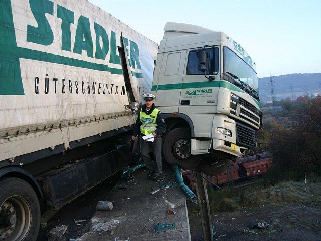 Nehoda kamionu v Ústí nad Labem.