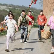 2 3 4 Desítky hodovníků vyrazily již po ránu v Chodovlicích na Třebenicku na koledu.Pomlázky různé velikosti vyzkoušely koledníci na místních dívkách a ženách a na oplátku si odnášely krásně malovaná vajíčka.