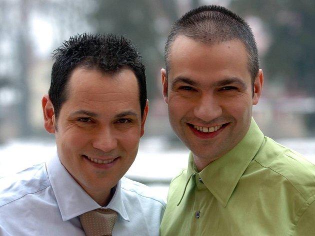 Pavel Vítek (vlevo) a Janis Sidovský