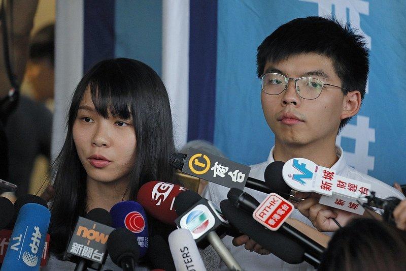 Hongkongský aktivista Joshua Wong