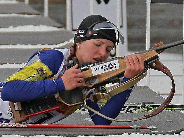 Vítězka mistrovství Evropy biatlonistek na 15 kilometrů Natálie Levčenkovová z Moldávie.