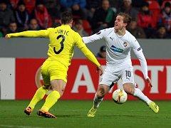 Plzeň - Villarreal: Jan Kopic a jeho snaha