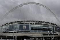 Fotbalový stadion Wembley v Londýně.