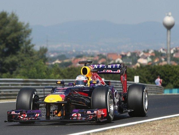 Sebastian Vettel v tréninku na VC Maďarska.