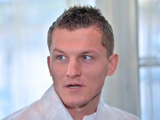 Tomáš Necid na srazu fotbalové reprezentace.