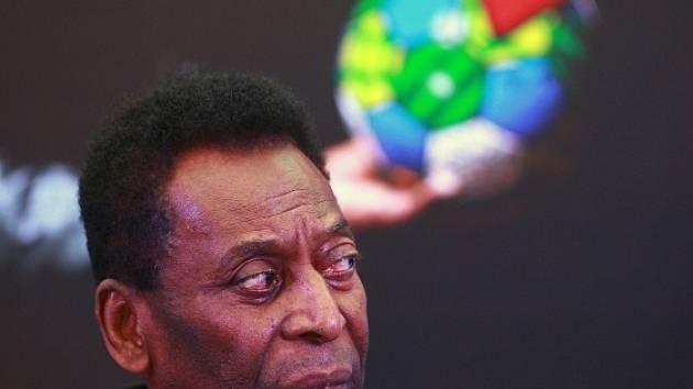 Brazilská fotbalová legenda Pelé.