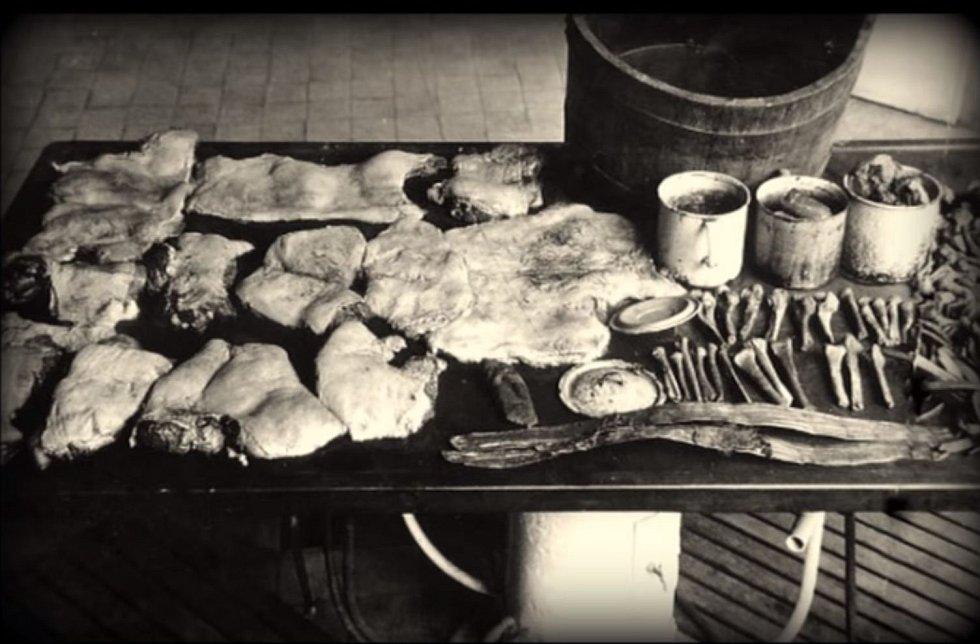 V kuchyni policisté našli kusy masa připravené ke konzumaci