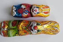 Čokoládové velikonoční figurky