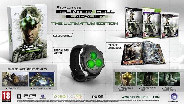 Sběratelské edice Splinter Cell: Blacklist.