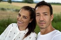 Alena Šeredová a její partner Alessandro