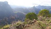 Gran Canaria. Výhled na skalní monolit Roque Bentayga
